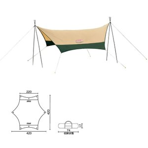 ■ジャンル:テント・タープ/タープ・シェルター/ウィング・ヘキサ型タープ(ポール1〜2本) ■メーカ...