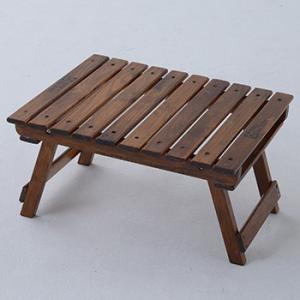 アウトドアテーブル TENT FACTORY ウッドライン グランドミッドテーブル 50.5×41.5 ブラウン|naturum-od