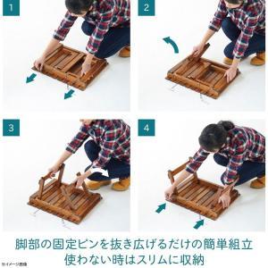 アウトドアテーブル TENT FACTORY ウッドライン グランドミッドテーブル 50.5×41.5 ブラウン|naturum-od|05