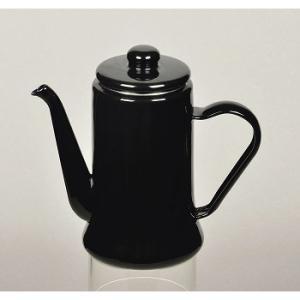 キッチンツール PEARL LIFE カフェテリア ホーローコーヒーポット 1.1L ブラック