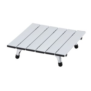 アウトドアテーブル BUNDOK ミニアルミロールテーブル シルバー|naturum-od