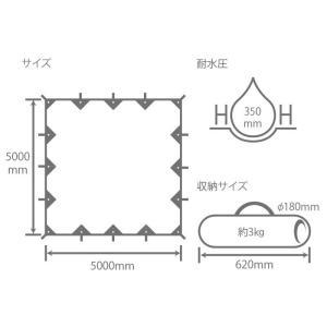 タープ・シェルター DOD チーズタープ 5m×5m ブラック|naturum-od|07