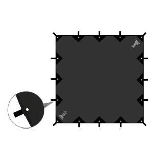 タープ・シェルター DOD チーズタープ 5m×5m ブラック|naturum-od|09
