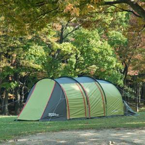 テント TENT FACTORY トンネル2ルームテント ロング 専用グランドシート付き グラスファイバー|naturum-od|05