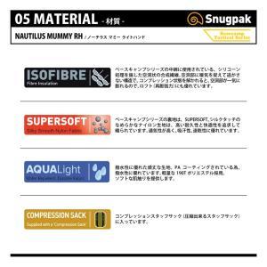 マミー型シュラフ スナグパック ノーチラス マミー ライトハンド 下限-2度 テレインカモ|naturum-od|07
