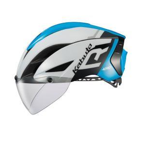 自転車アクセサリー OGK KABUTO ヘルメット AERO-R1 (エアロ-R1) S/M G-1ホワイトブルー