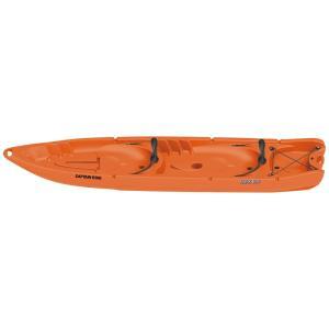 ツーリング 売れ筋 シーカヤック キャプテンスタッグ カヤックボーイ2プラス クレジットカード決済のみ 340パドル付 日本製 オレンジ