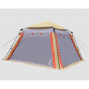テント DOD コネクタブルスクリーンタープ2 ベージュ×グレー×オレンジの商品画像|ナビ