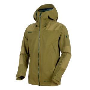 アウトドアジャケット マムート Alvier Armor HS 国内在庫 Hooded Men's Jacket clover S 爆売りセール開催中