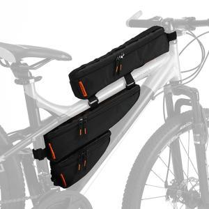 自転車バッグ ドッペルギャンガー パズルフレームバッグ ブラック naturum-od 02