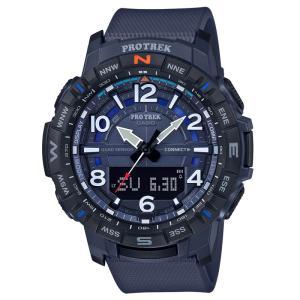 アウトドアウォッチ・時計 プロトレック 国内正規品 PRT-B50-2JF 10気圧防水 モバイイルリンク機能 ブルー|naturum-od