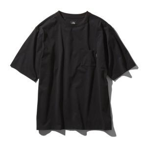 アウトドアシャツ ザ・ノースフェイス 21春夏 Men's S/S AIRY POCKET TEE(エアリーポケットティー)メンズ M ブラック(K)|naturum-od