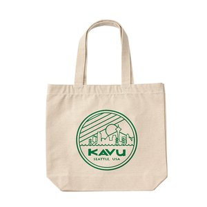KAVU シアトルロゴ トートバッグ グリーン|naturum-od