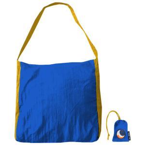 TICKET TO THE MOON パラシュート エコマーケットバッグ 20L ブルー×ダークイエロー naturum-od