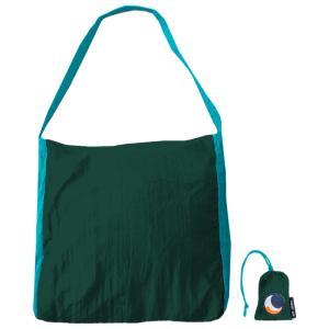 TICKET TO THE MOON パラシュート エコマーケットバッグ 20L ダークグリーン×ターコイズ naturum-od
