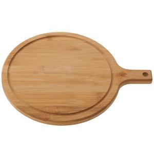 キッチンツール ロゴス 2021年新商品 Bamboo 柄付きサークルまな板|naturum-od