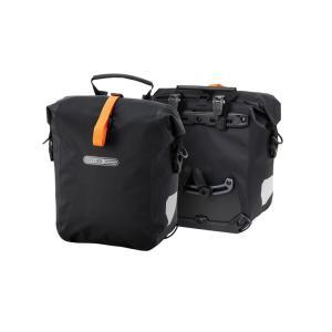 自転車バッグ オルトリーブ 正規品  グラベルパック QL2.1ペア サイクルバッグ フォークバッグ バイクパッキング 防水 25L ブラックマット naturum-od