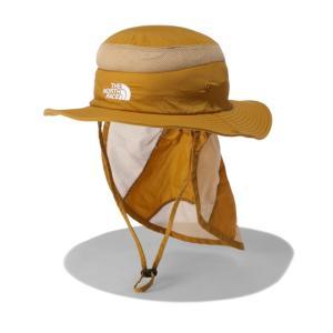 アウトドアウェア ザ・ノースフェイス 21春夏 Kid's SUNSHIELD HAT(サンシールド ハット)キッズ KL ゴールデンブラウン(GB)|naturum-od