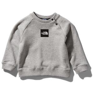 アウトドアウェア ザ・ノースフェイス 21春夏 Baby's SWEAT LOGO CREW(スウェット ロゴ クルー)ベビー 70 ミックスグレー(Z)|naturum-od