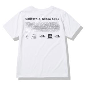 アウトドアシャツ ザ・ノースフェイス 21春夏 S/S HISCA LOGO TEE(ショートスリーブ ヒストリカル ロゴティー)メンズ M ホワイト(W)|naturum-od