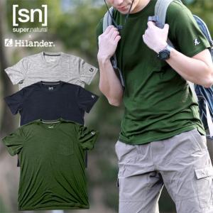 アウトドアシャツ ハイランダー sn×Hilander メリノウール ポケットTシャツ L ダークグリーン|naturum-od