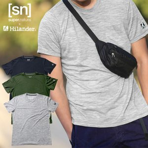 アウトドアシャツ ハイランダー sn×Hilander メリノウール ポケットTシャツ L グレー naturum-od