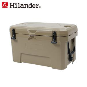 キャンプクーラー ハイランダー ハードクーラーボックス 50L タン|naturum-od