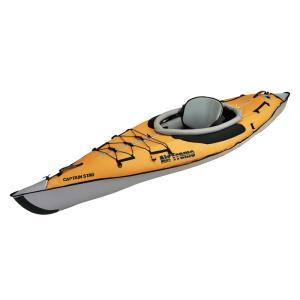 安値 15日限定ほぼ全品P5倍 インフレータブルカヌー キャプテンスタッグ エアフレーム1 エアーフロア 限定 カヤック オレンジ 即出荷