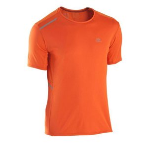 ランニングウェア KALENJI RUNDRY+ ランニングTシャツ メンズ L オレンジ naturum-od