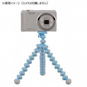 光学機器 キャプテンスタッグ カメラ用フリーアームスタンド(スマートフォン対応ホルダー付) ブルー|naturum-outdoor