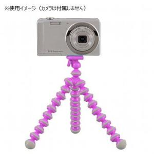 光学機器 キャプテンスタッグ カメラ用フリーアームスタンド(スマートフォン対応ホルダー付) ピンク|naturum-outdoor