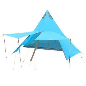 ■納期:1週間〜10日 ■カラー:ターコイズブルー ■ジャンル:テント・タープ/テント/ワンポールテ...