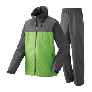 ロゴス 蒸れを追放・OVSレインスーツ ピート L 32(ライトグリーン)|naturum-outdoor