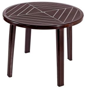 ガーデンファニチャー キャプテンスタッグ クリストバルPC ラウンドテーブル モカ naturum-outdoor