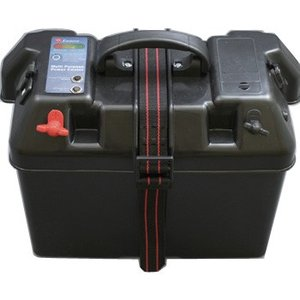 船外機・魚探・エレキ bmojapan バッテリーBOX インジケーター付(USB対応)60Aヒューズ付