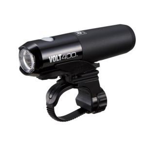 自転車アクセサリー キャットアイ HL-EL461RC VOLT400 充電式LEDライト ブラック|naturum-outdoor