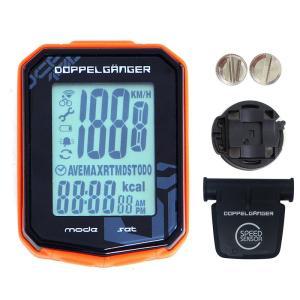 サイクルアクセサリー ドッペルギャンガー サイクルコンピューター(ワイヤレス) ブラック×オレンジ