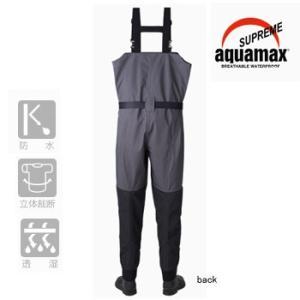 防水透湿ウェーダー リバレイRBB RBB シュープリームウェイダーII LL ブラック×チャコール|naturum-outdoor|02