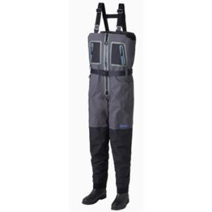 防水透湿ウェーダー リバレイRBB RBB ZIPチェストウェイダー M ブラック×チャコール|naturum-outdoor