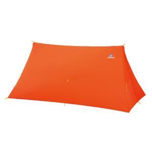 テント ファイントラック ツエルト2ロング 2〜3人用 OG(オレンジ)|naturum-outdoor