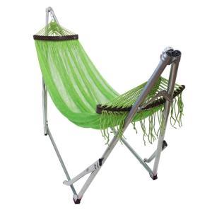 ベッド オールアバウトアクティビティ 自立式キャリーハンモック 単品 ライトグリーン×シルバー|naturum-outdoor