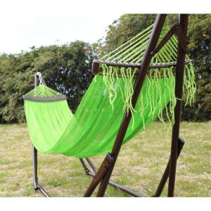 ベッド オールアバウトアクティビティ 自立式キャリーハンモック 単品 ライトグリーン×シルバー|naturum-outdoor|03