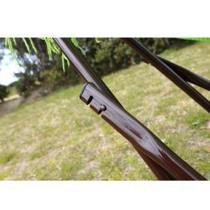 ベッド オールアバウトアクティビティ 自立式キャリーハンモック 単品 ライトグリーン×シルバー|naturum-outdoor|06