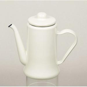 キッチンツール PEARL LIFE カフェテリア ホーローコーヒーポット 1.1L ホワイト