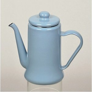 キッチンツール PEARL LIFE カフェテリア ホーローコーヒーポット 1.1L ブルーグレー