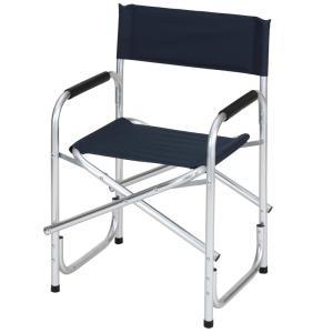 チェア BUNDOK ディレクターチェアアルミ レジャー/アウトドア折りたたみ椅子 ネイビー