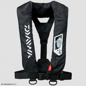 フローティングベスト ダイワ DF-2007 ウォッシャブルライフジャケット(肩掛けタイプ手動・自動膨脹式) フリー ブラック|naturum-outdoor
