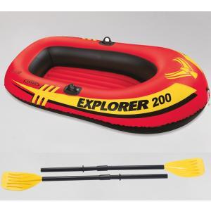 エクスプローラー 2人用 ゴムボート オール/ミニポンプ付