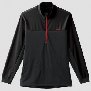 DE-52008 BUG BLOCKER+UV 防蚊ハーフジップシャツ M ブラック