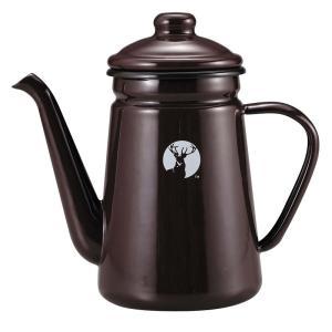 キッチンツール キャプテンスタッグ ホーロー コーヒーポット 700ml ブラウン